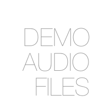 2020 DEMO AUDIO FILES